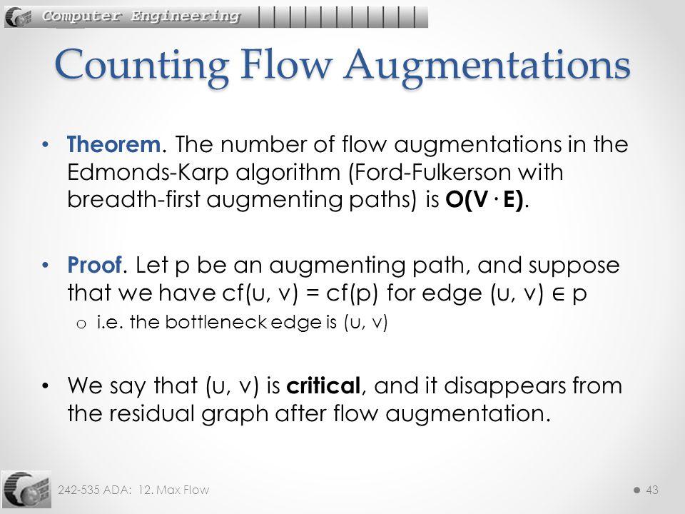 242-535 ADA: 12.Max Flow43 Theorem.