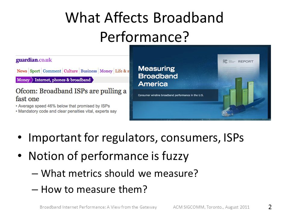 What Affects Broadband Performance.