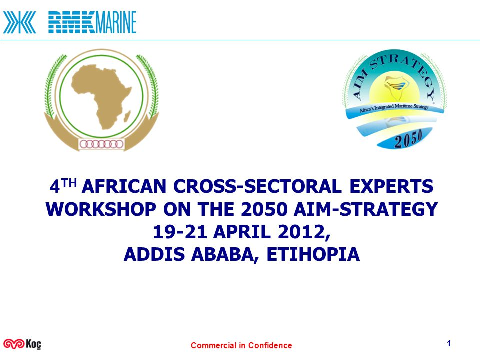 Commercial in Confidence 1 4 TH AFRICAN CROSS-SECTORAL EXPERTS WORKSHOP ON THE 2050 AIM-STRATEGY 19-21 APRIL 2012, ADDIS ABABA, ETIHOPIA