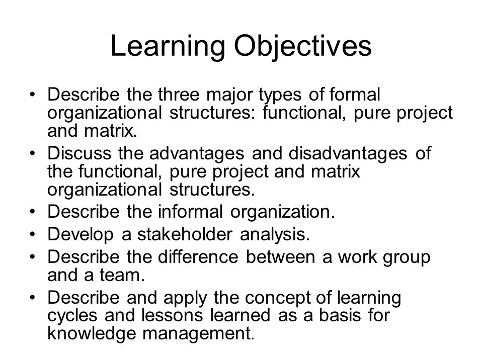 Organization and Project Planning Organizational Structure