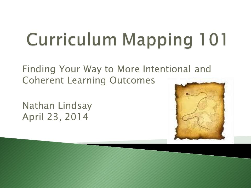 Finding Your Way to More Intentional and Coherent Learning Outcomes Nathan Lindsay April 23, 2014