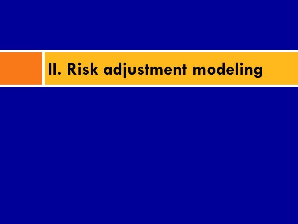 II. Risk adjustment modeling
