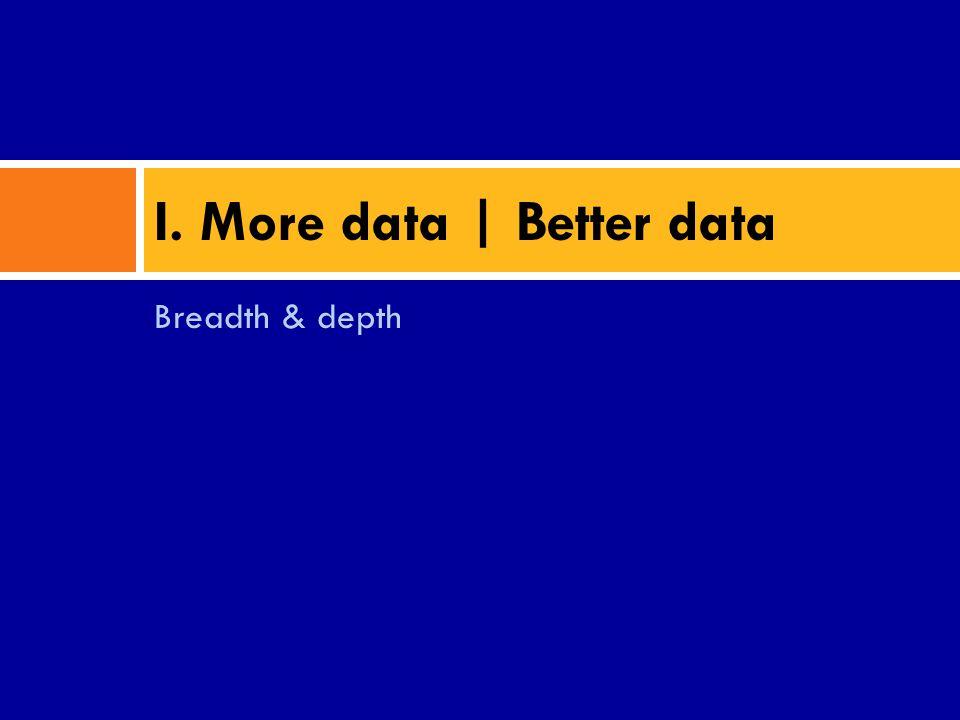 Breadth & depth I. More data | Better data