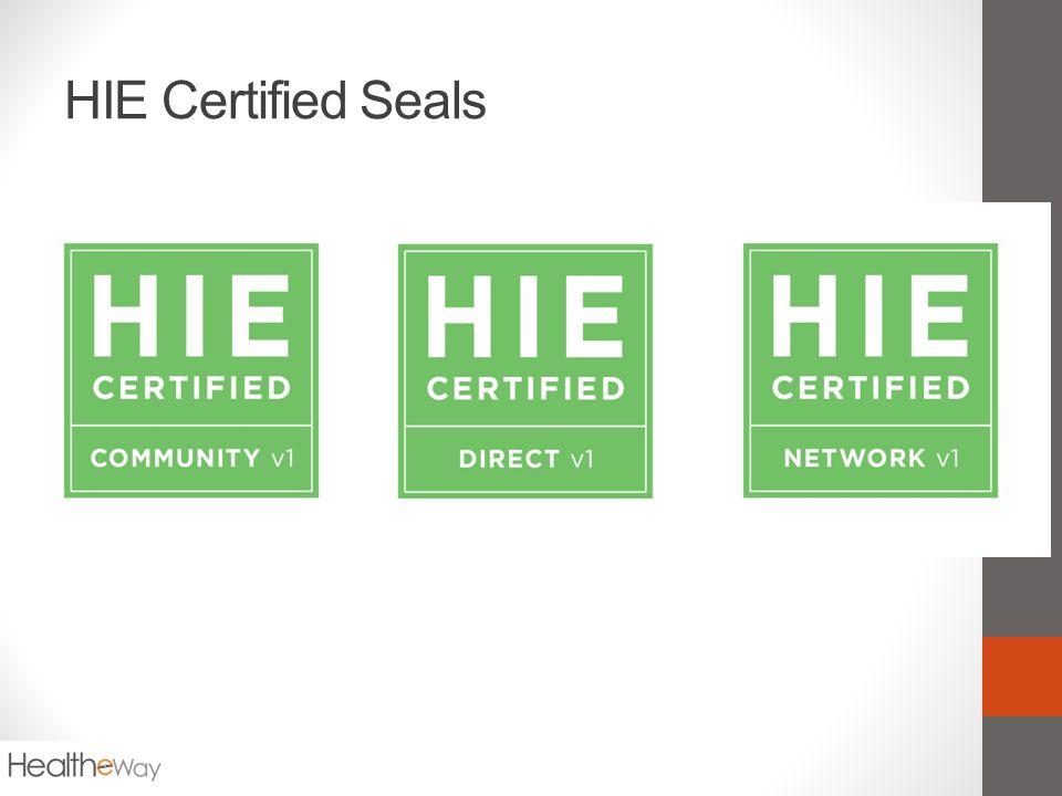 HIE Certified Seals