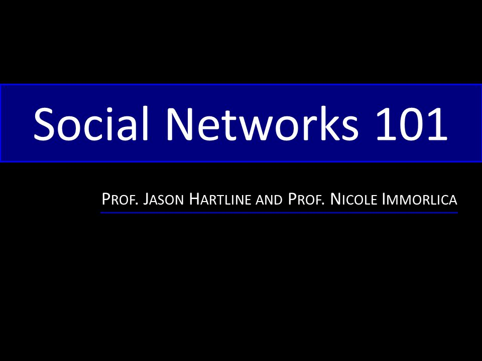 Six degrees of separation Last time: The diameter of a social network is typically small.