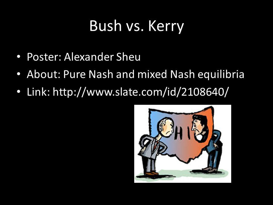 Bush vs.