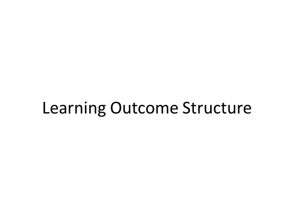 Learning Outcome Structure