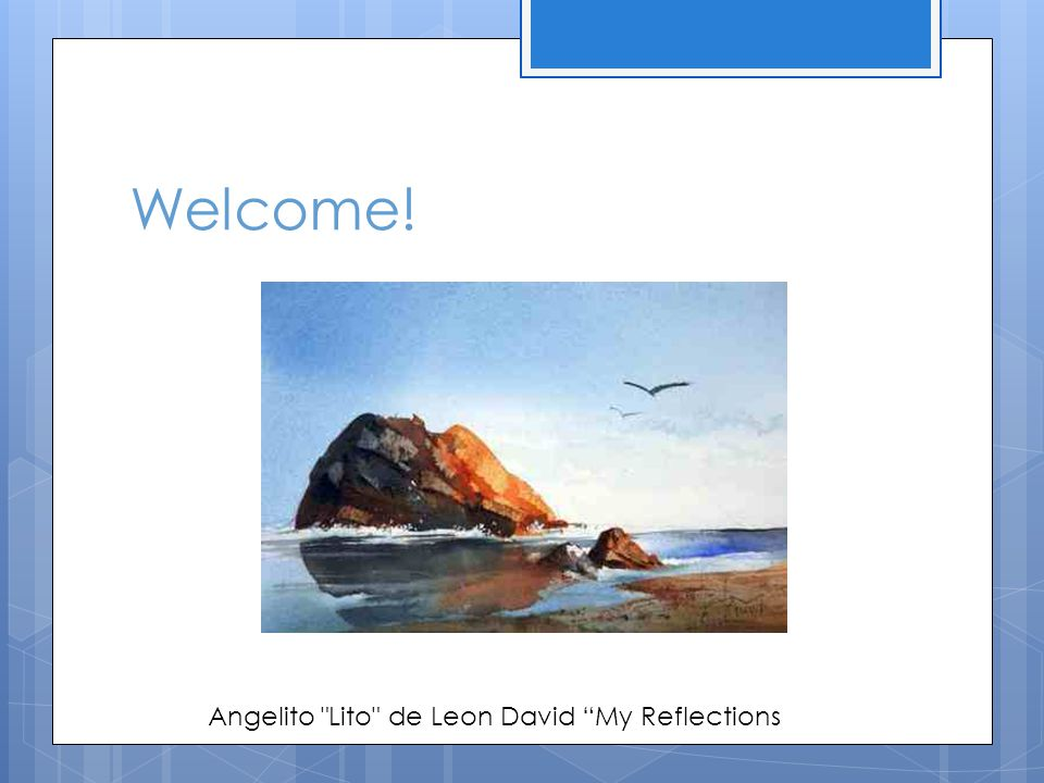Welcome! Angelito