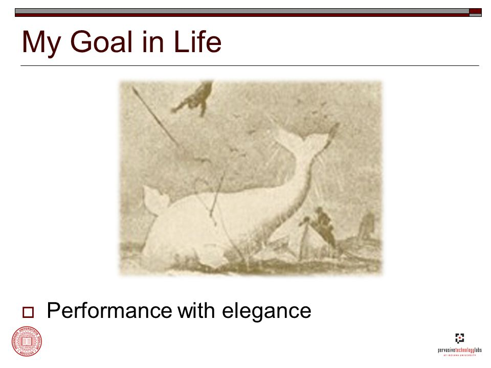 My Goal in Life  Performance with elegance