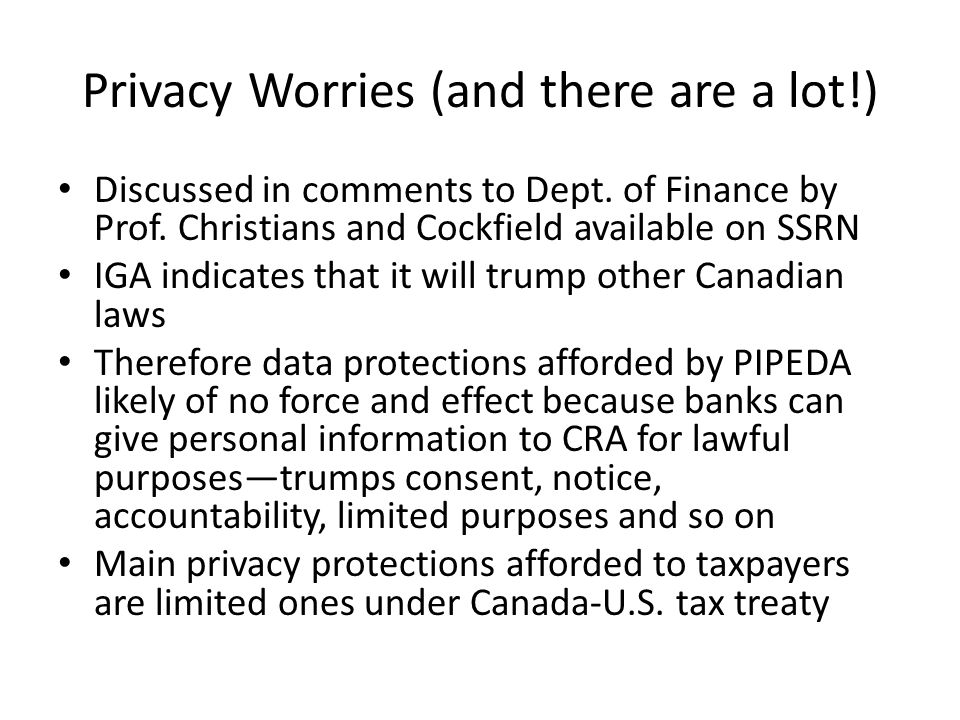 Privacy Worries (and there are a lot!) Discussed in comments to Dept.