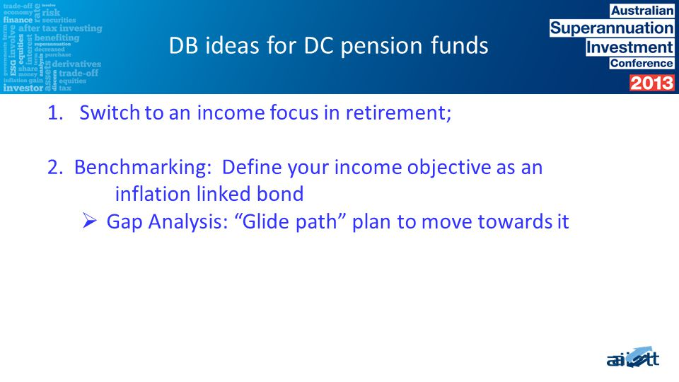 1. Switch to an income focus in retirement; 2.