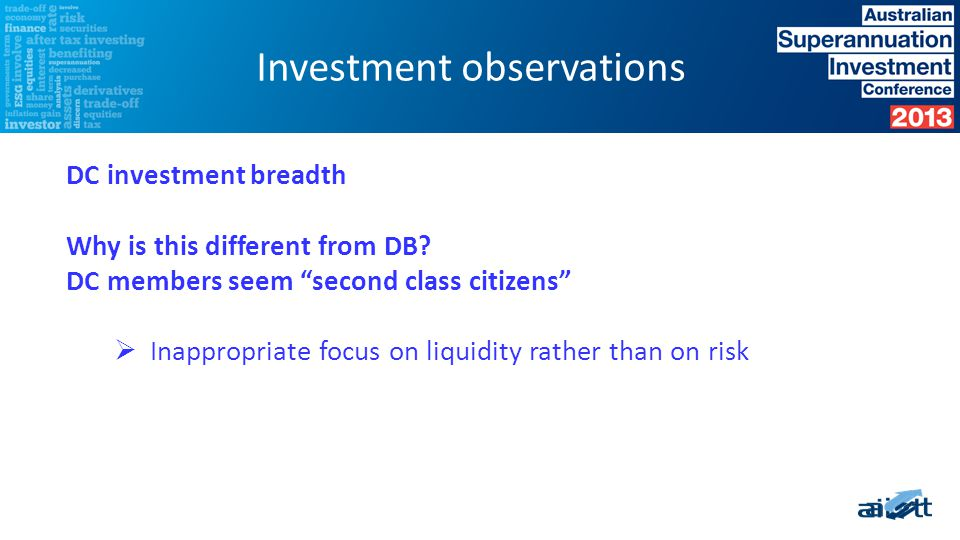 Using only a risk and return lens this investment strategy look diversified…..
