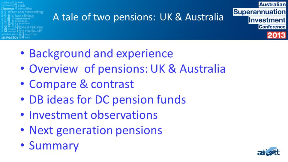 Pensions experience in Australia, Singapore & UK Head of Portfolio Risk, Global Portfolio Manager, Deputy CIO 2008 to 2013: BA Pensions: Head of Alternative Assets; DC Trustee for BA Pensions Edgehaven Pty Ltd (Royal Mail Pension Plan) Background and Experience