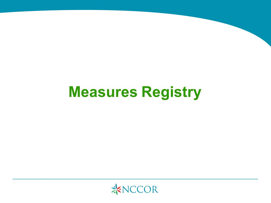Measures Registry