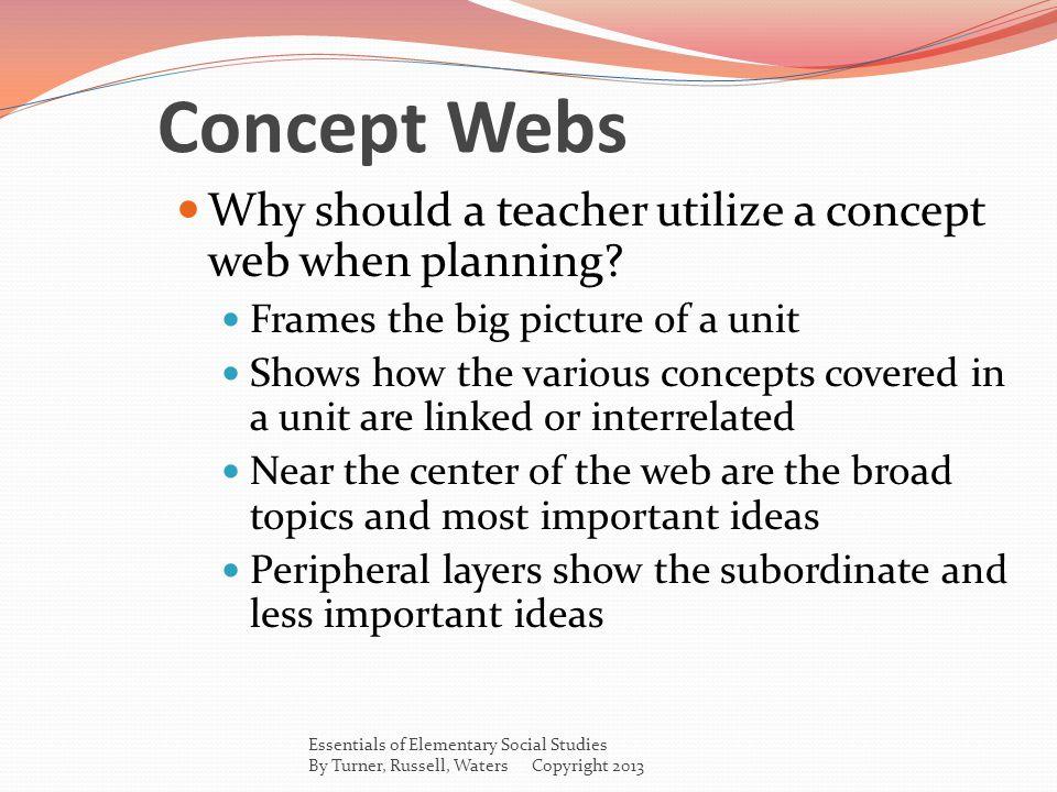 Concept Webs Why should a teacher utilize a concept web when planning.