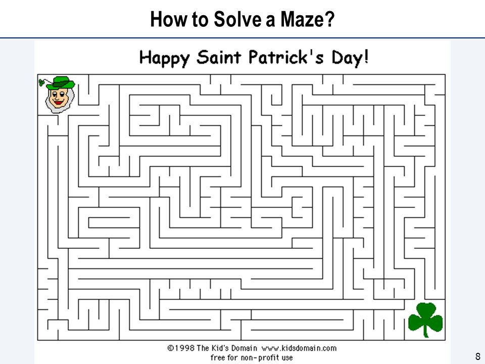 How to Solve a Maze? 8