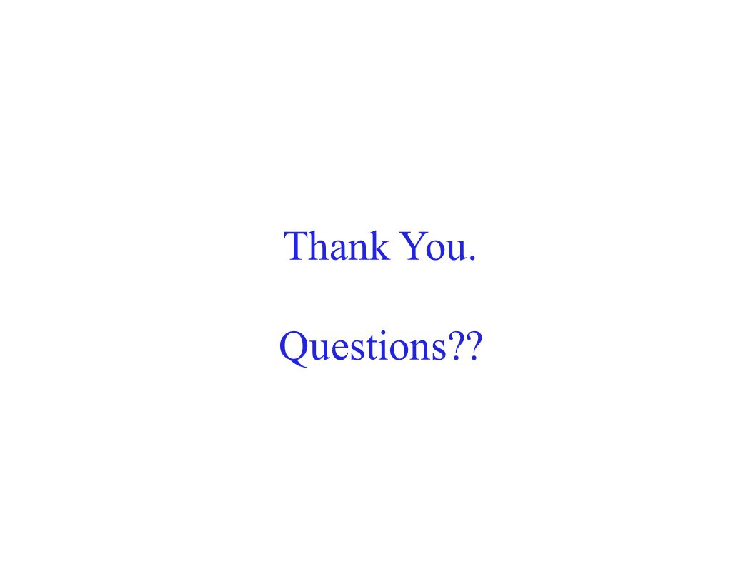 Thank You. Questions