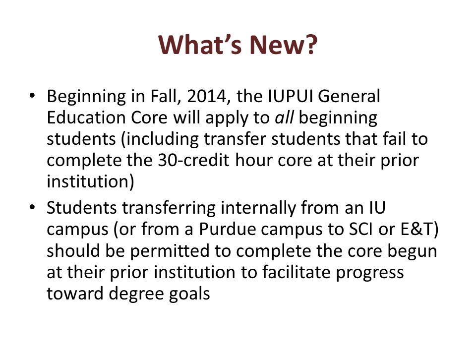 Coming Soon…..UNDI Course-to- Competency Articulation Office of Undergraduate Admissions is developing processes for reviewing 100- and 200-level UNDI transfer courses and articulating them with general education competencies Rules were articulated by faculty and admissions staff will be trained to make equivalency decisions.