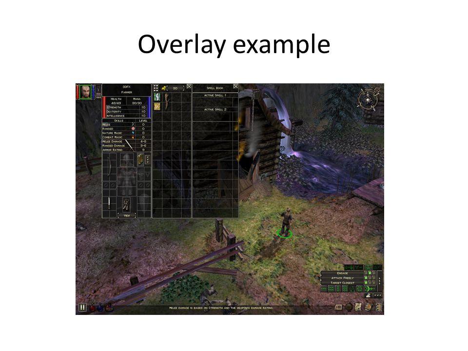 Overlay example