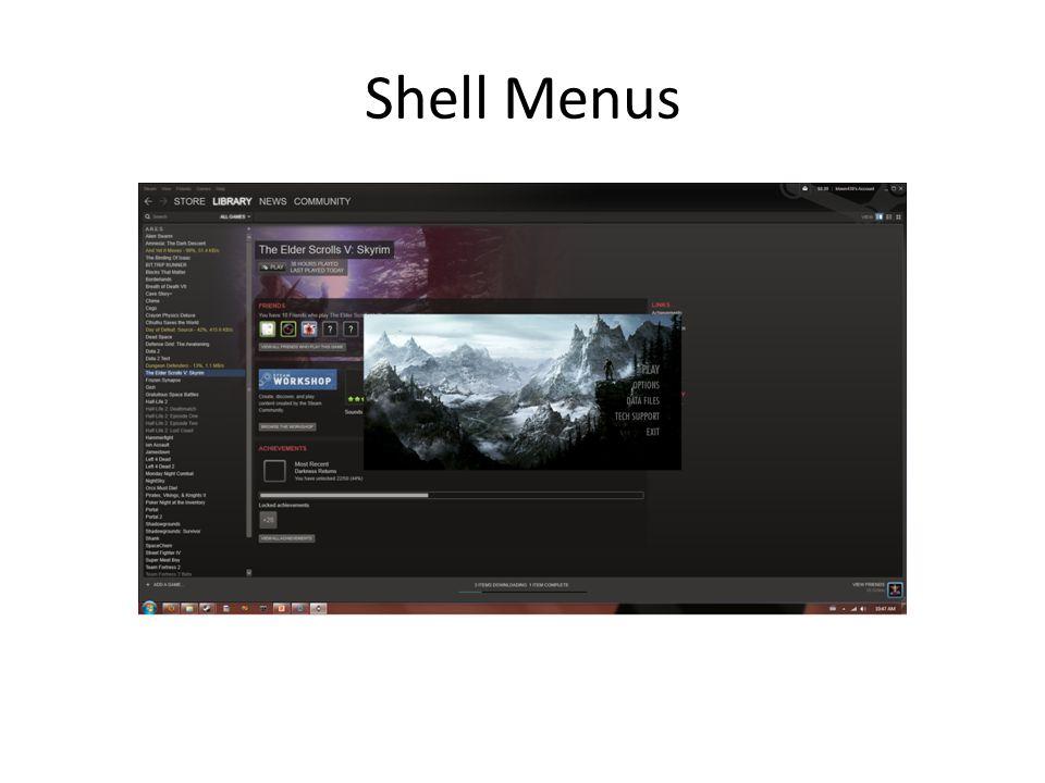 Shell Menus