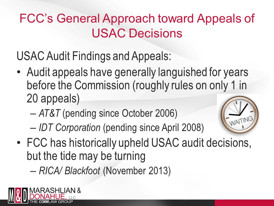 USAC's Role as USF Administrator As USF Administrator, USAC: Is authorized to audit USF contributors' FCC Forms 499 – 47 C.F.R.