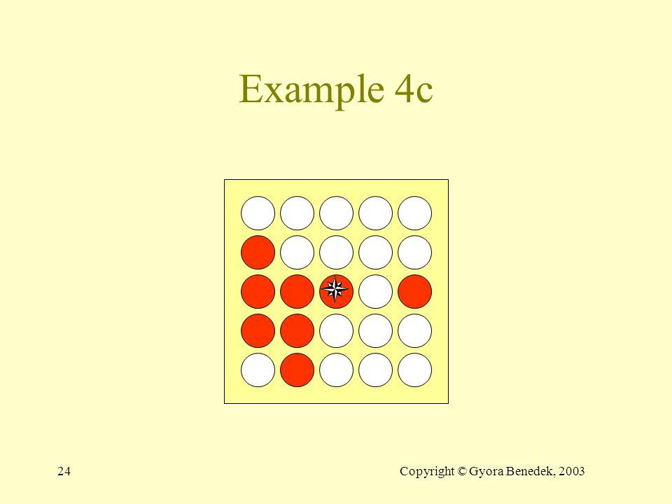 23Copyright © Gyora Benedek, 2003 Example 4c