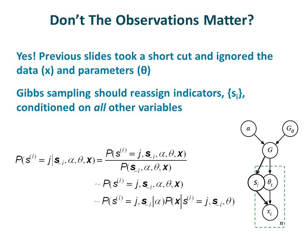 Don't The Observations Matter. Yes.