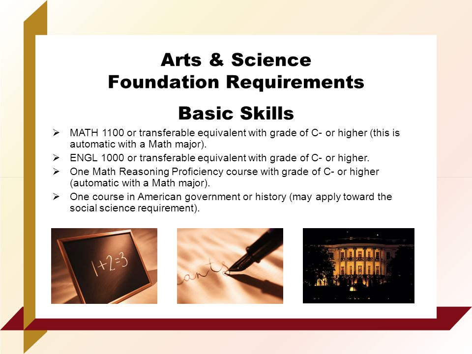 requirement of basic math and science Recognized as a national research leader in the fields of mathematics and science to teach secondary-school math bsed in science education.