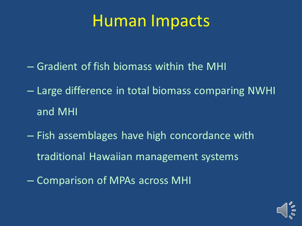 Endemic species 25% species endemic to Hawaii Numerical endemism is 50% in NWHI compared to 20% in MHI Higher endemism at the N end of chain