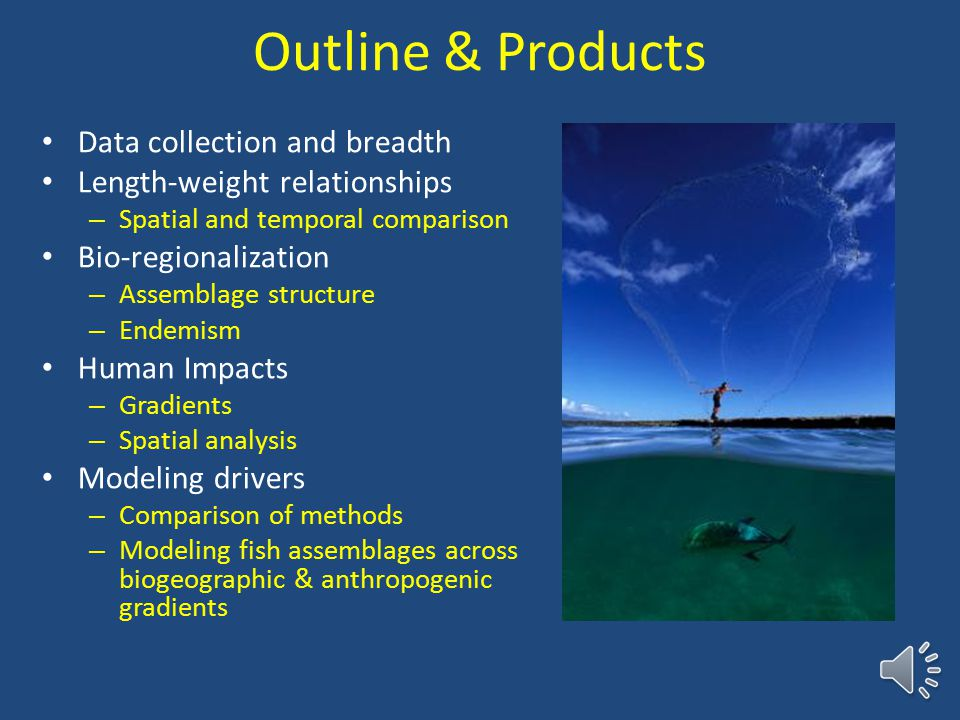 Meta-analysis of reef fish data in Hawaii to examine natural and anthropogenic processes Alan Friedlander 1, Mary Donovan 1, Kosta Stamoulis 1, Ivor Williams 2, 1 Fisheries Ecology Research Lab, Univ.