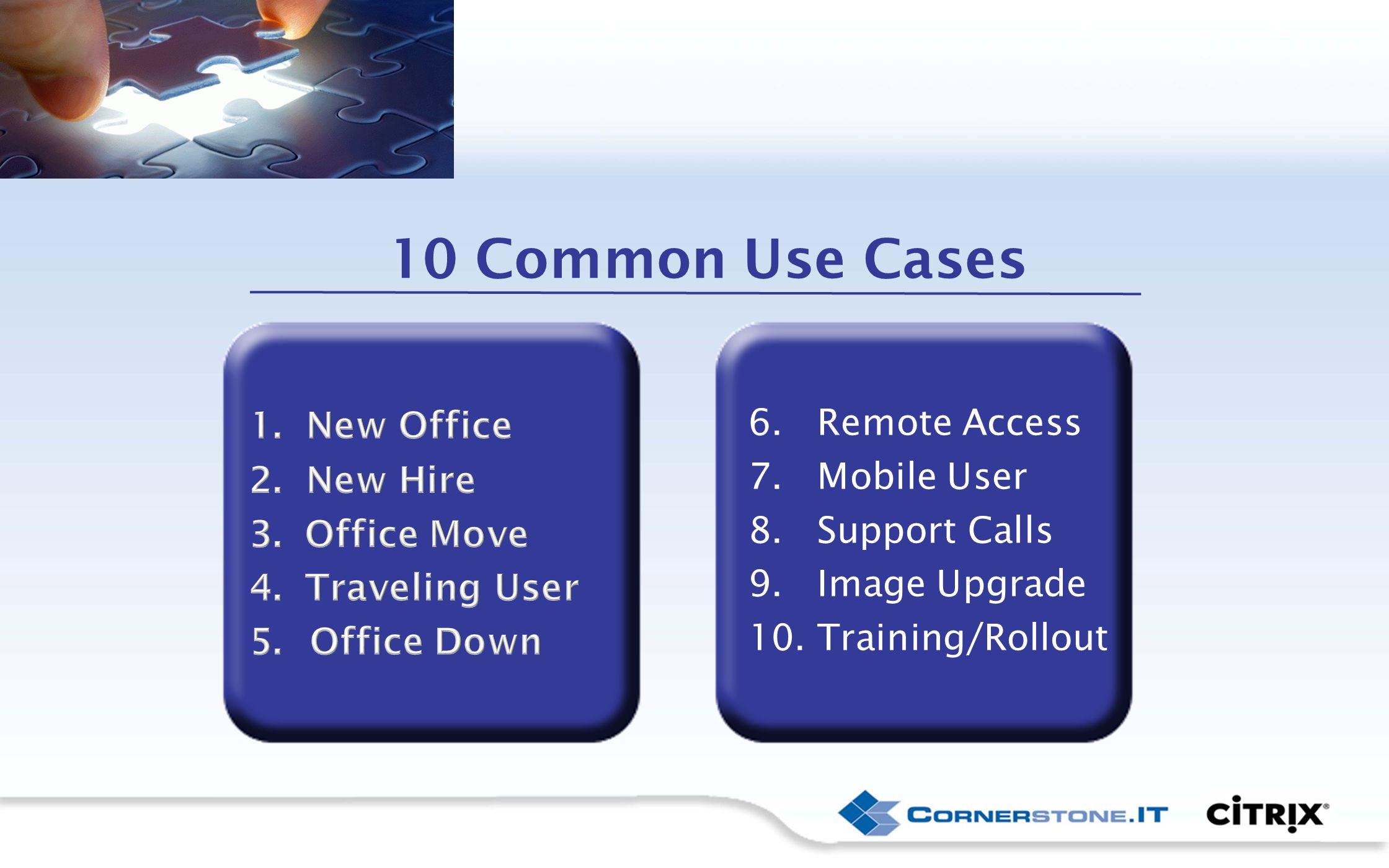 10 Common Use Cases 6. Remote Access 7. Mobile User 8.