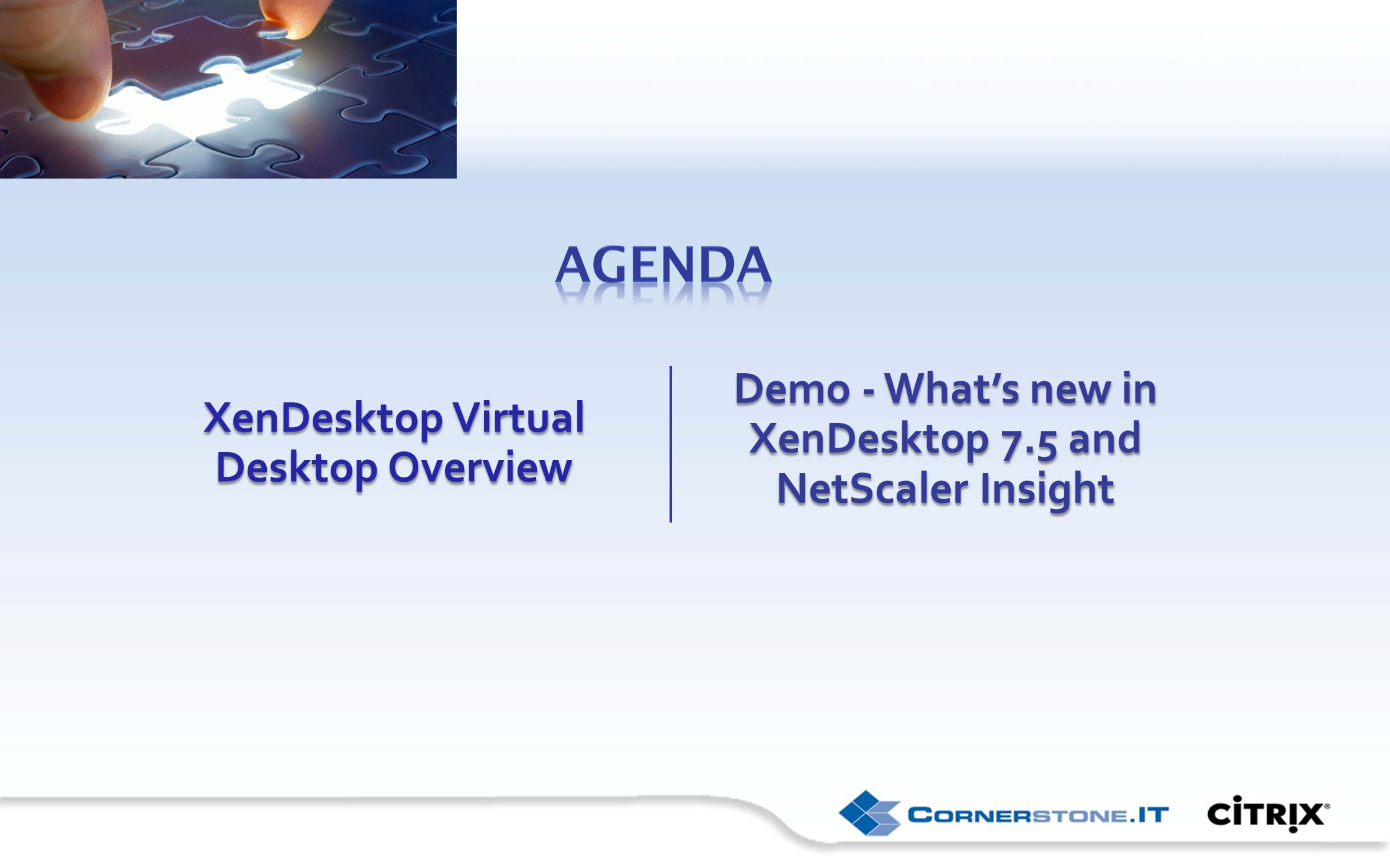 XenDesktop Virtual Desktop Overview Demo - What's new in XenDesktop 7.5 and NetScaler Insight