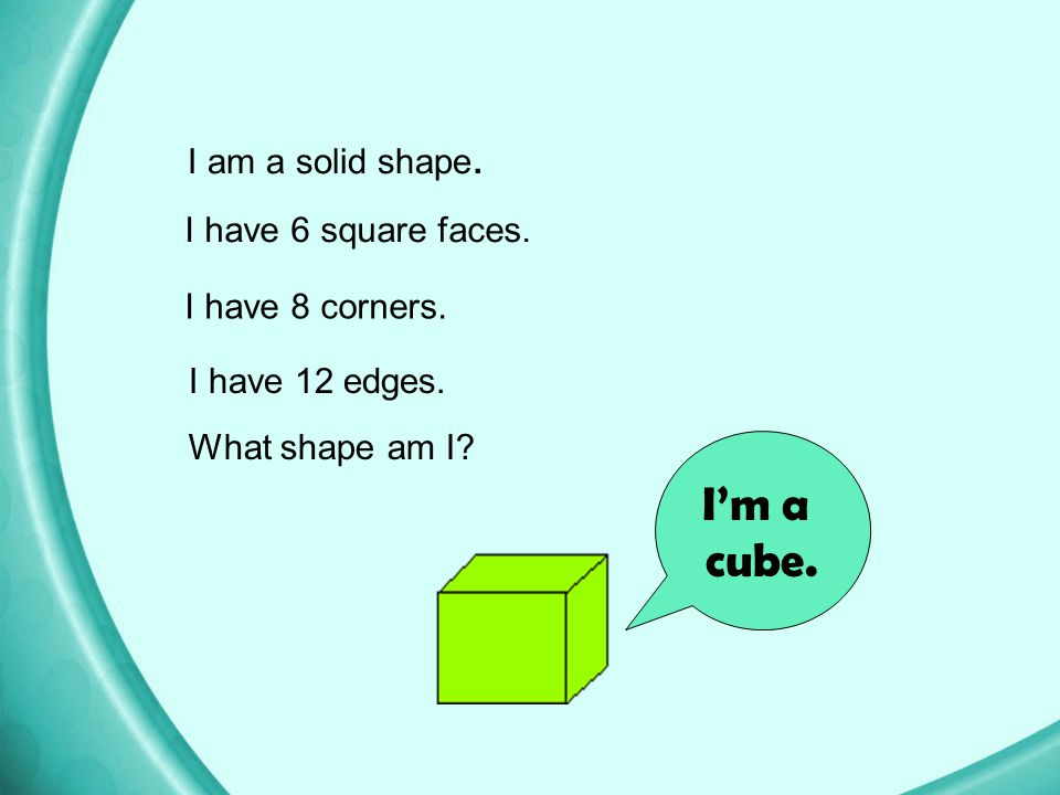 Volume of a Cube A cube is a three-dimensional solid with all 3 dimensions the same length. If s is the length of one of its sides, the… volume of the