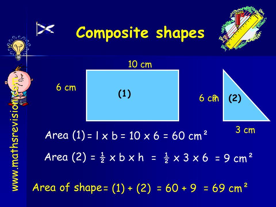 S5 Int 1 Composite shapes 6 cm 10 cm 13 cm 3 cm www.mathsrevision.com