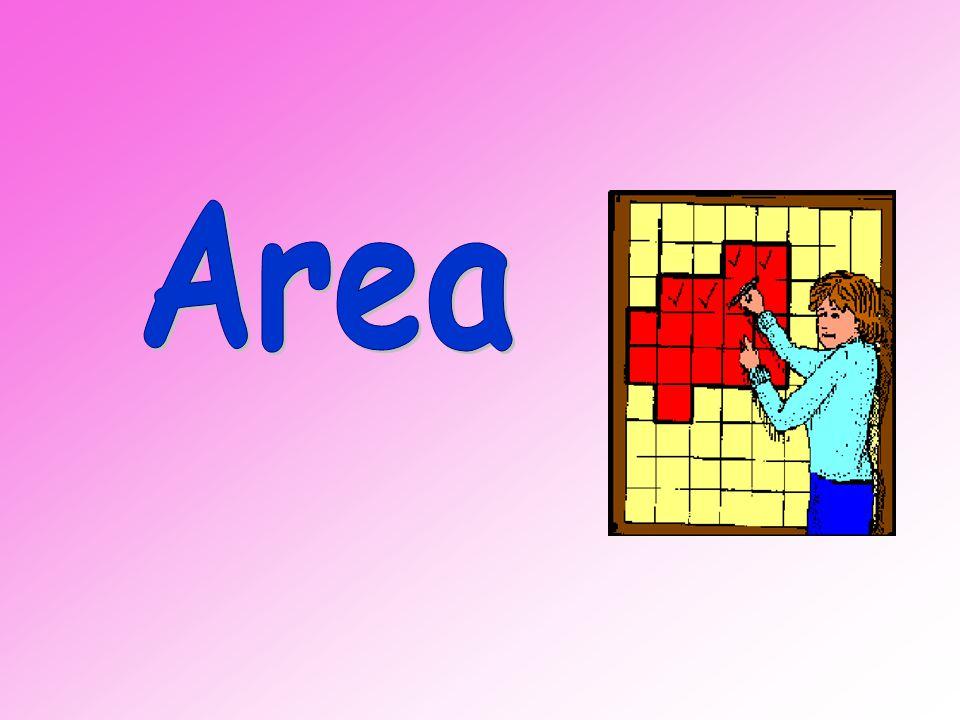 1 square represents 1 cm Area = _____ square centimetres. 26