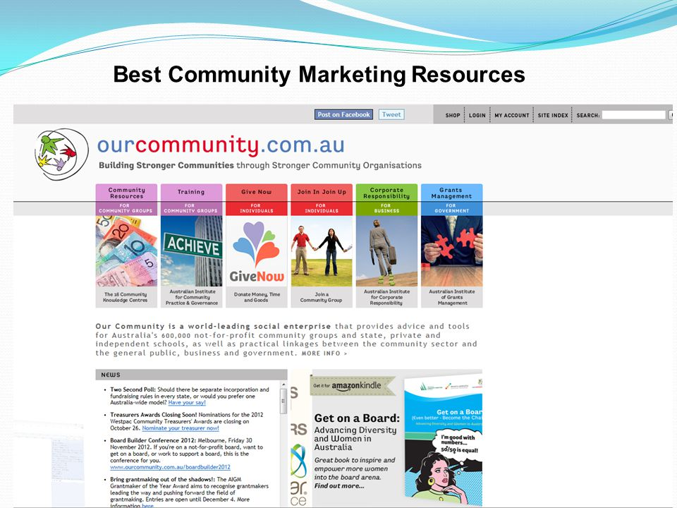 Best Community Marketing Resources