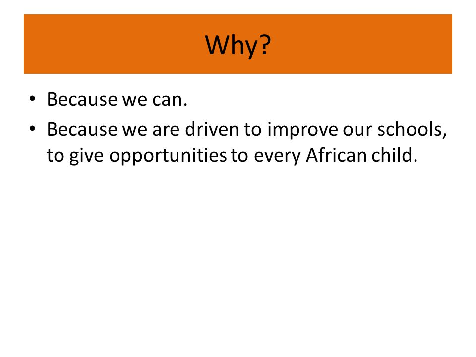 Why host an African Convention of School Leaders?
