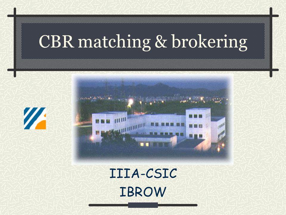 CBR matching & brokering IIIA-CSIC IBROW