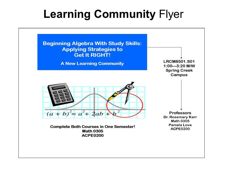 Learning Community Flyer