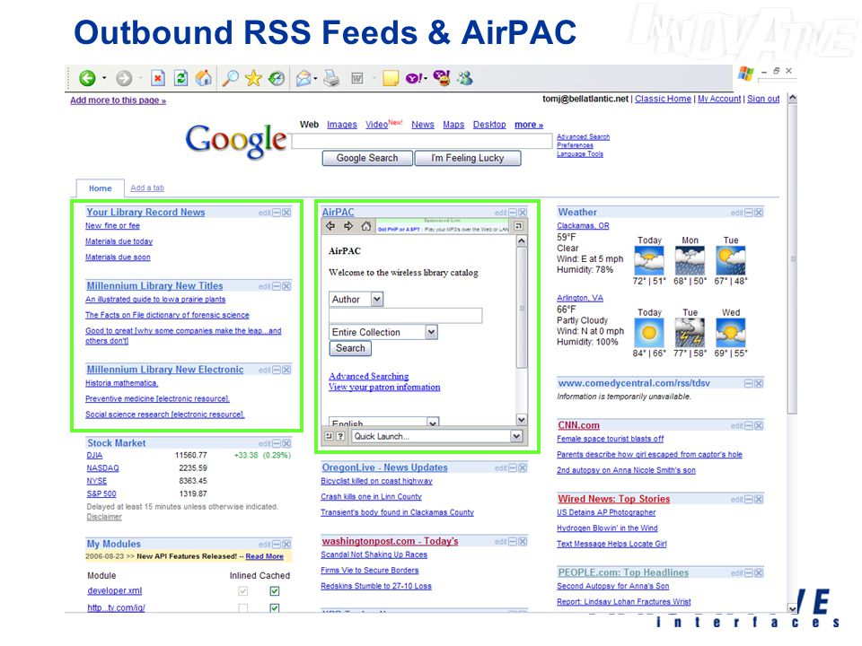 Outbound RSS Feeds & AirPAC