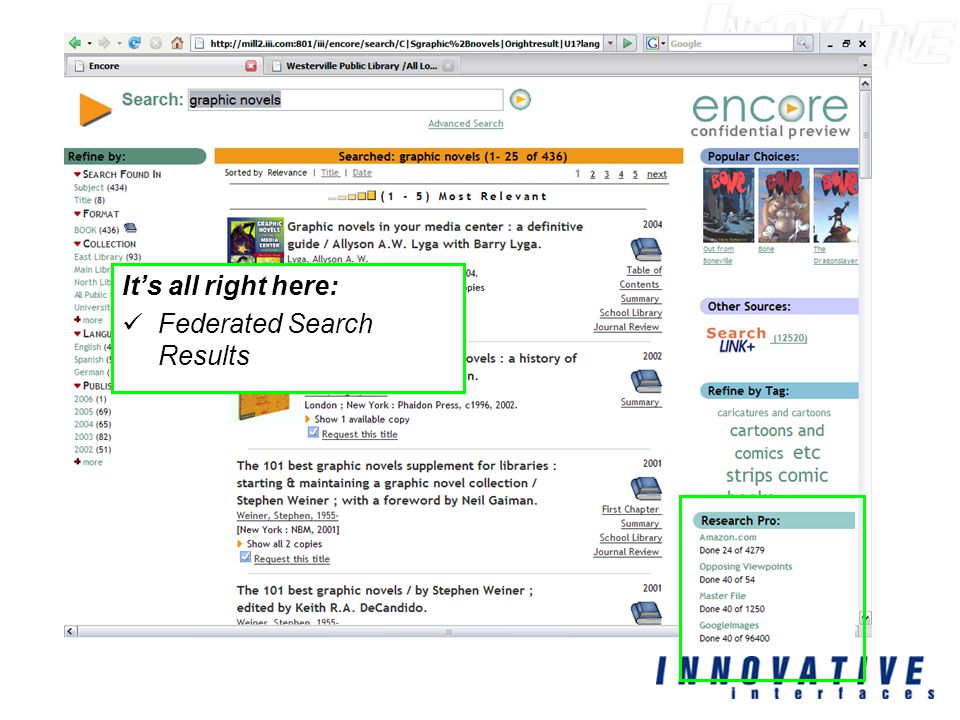 It's all right here: Federated Search Results