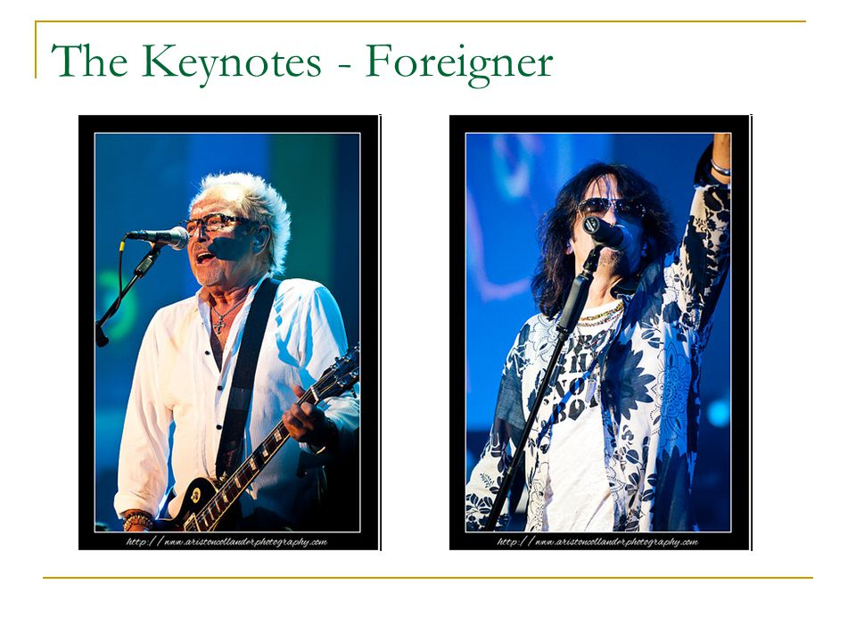 The Keynotes - Foreigner