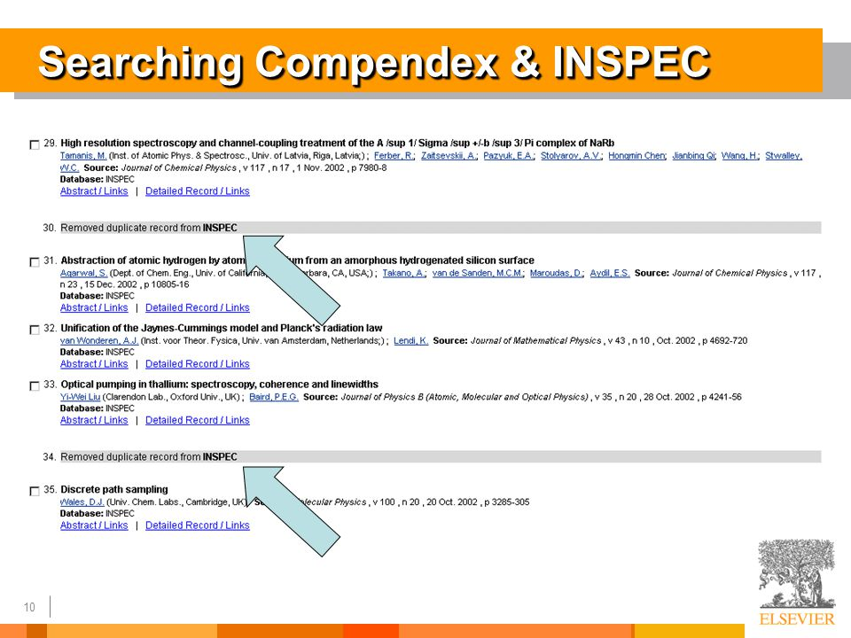 10 Searching Compendex & INSPEC