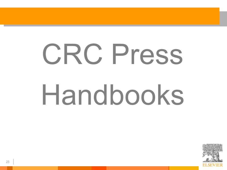 25 CRC Press Handbooks