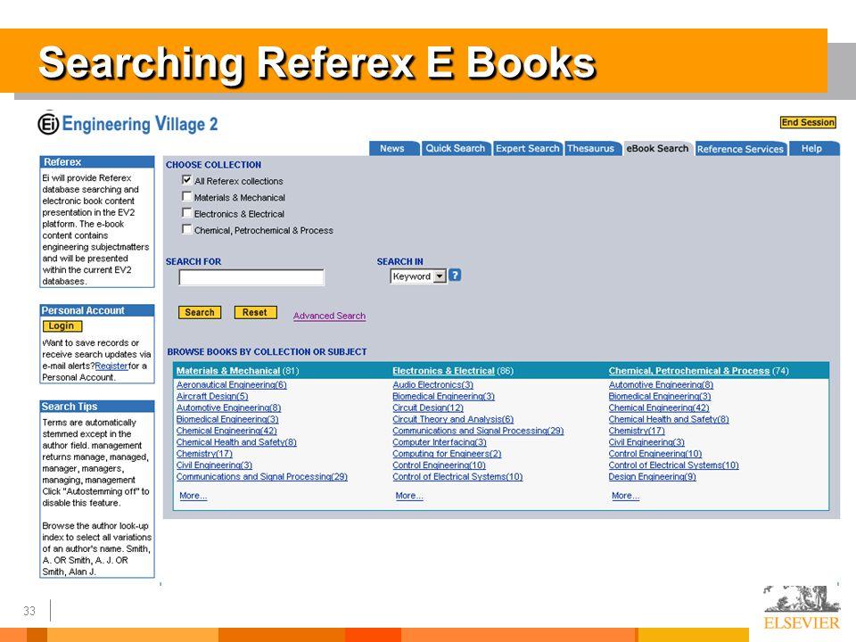 33 Searching Referex E Books