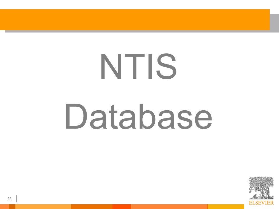 36 NTIS Database