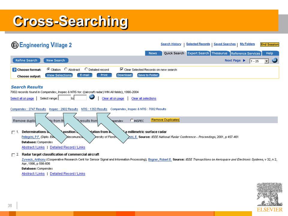 38 Cross-SearchingCross-Searching