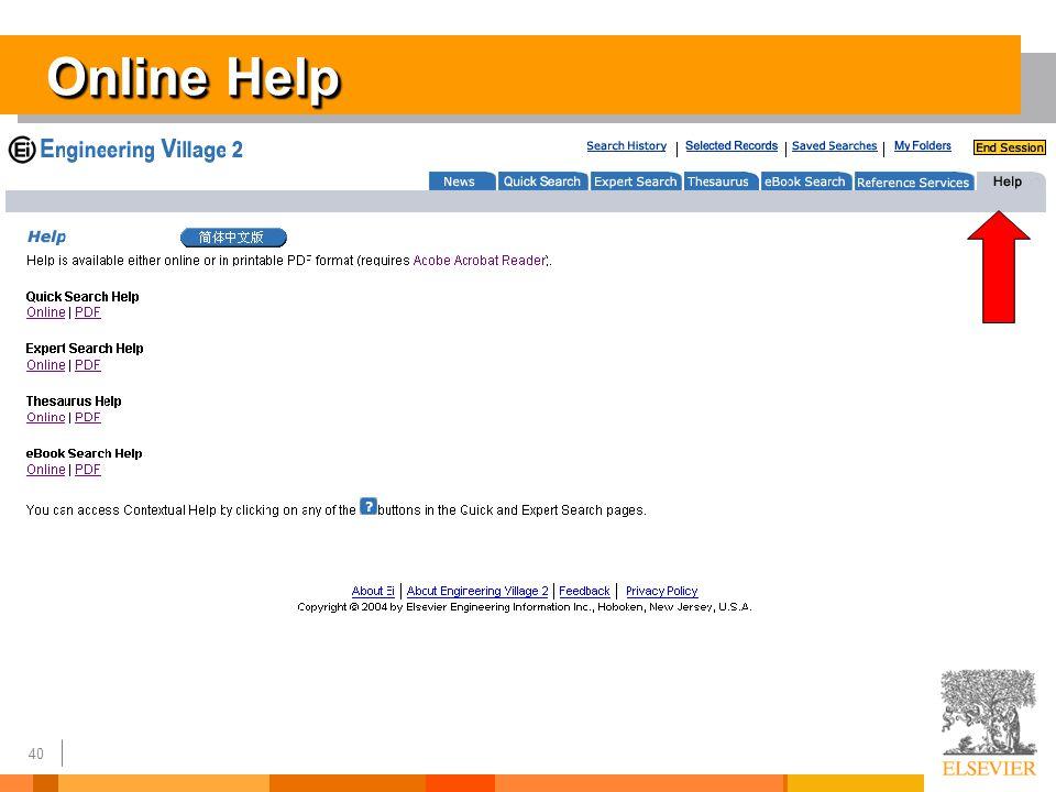 40 Online Help
