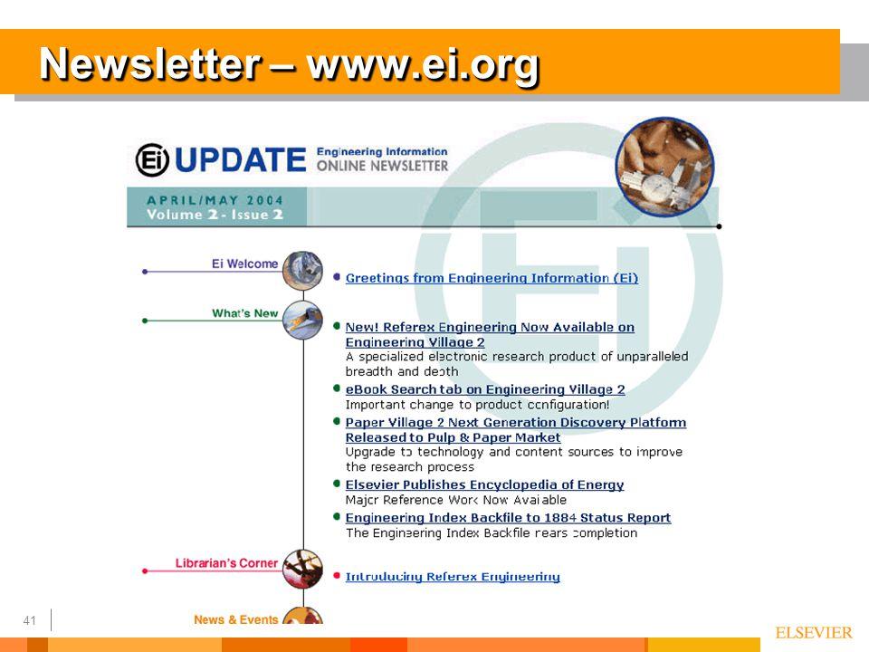 41 Newsletter – www.ei.org