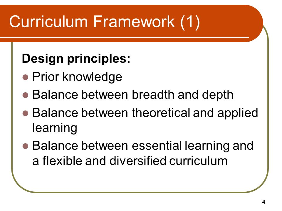 Curriculum Framework (2) Learning how to learn and inquiry-based learning Progression Smoother articulation to multiple progression pathways Greater coherence Catering for diversity Relevance to students' life 5